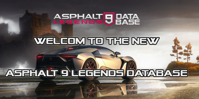 Welcome to the new Asphalt 9 Legends Database
