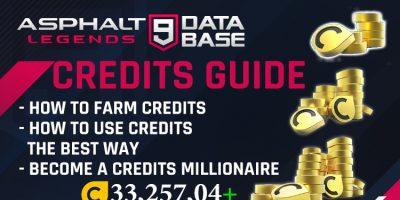 Asphalt 9 Guide de crédits