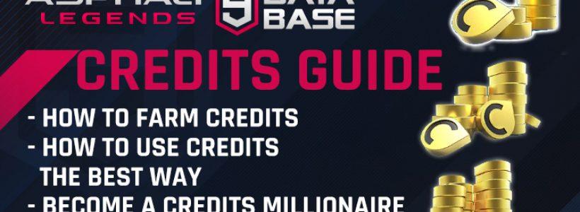 Asphalt 9 Credits Guide