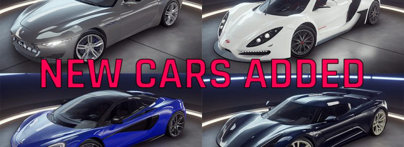 4 새로운 자동차가 추가되었습니다.