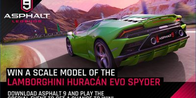 Win a Scale Model of the Lamborghini Huracan Evo Spyder