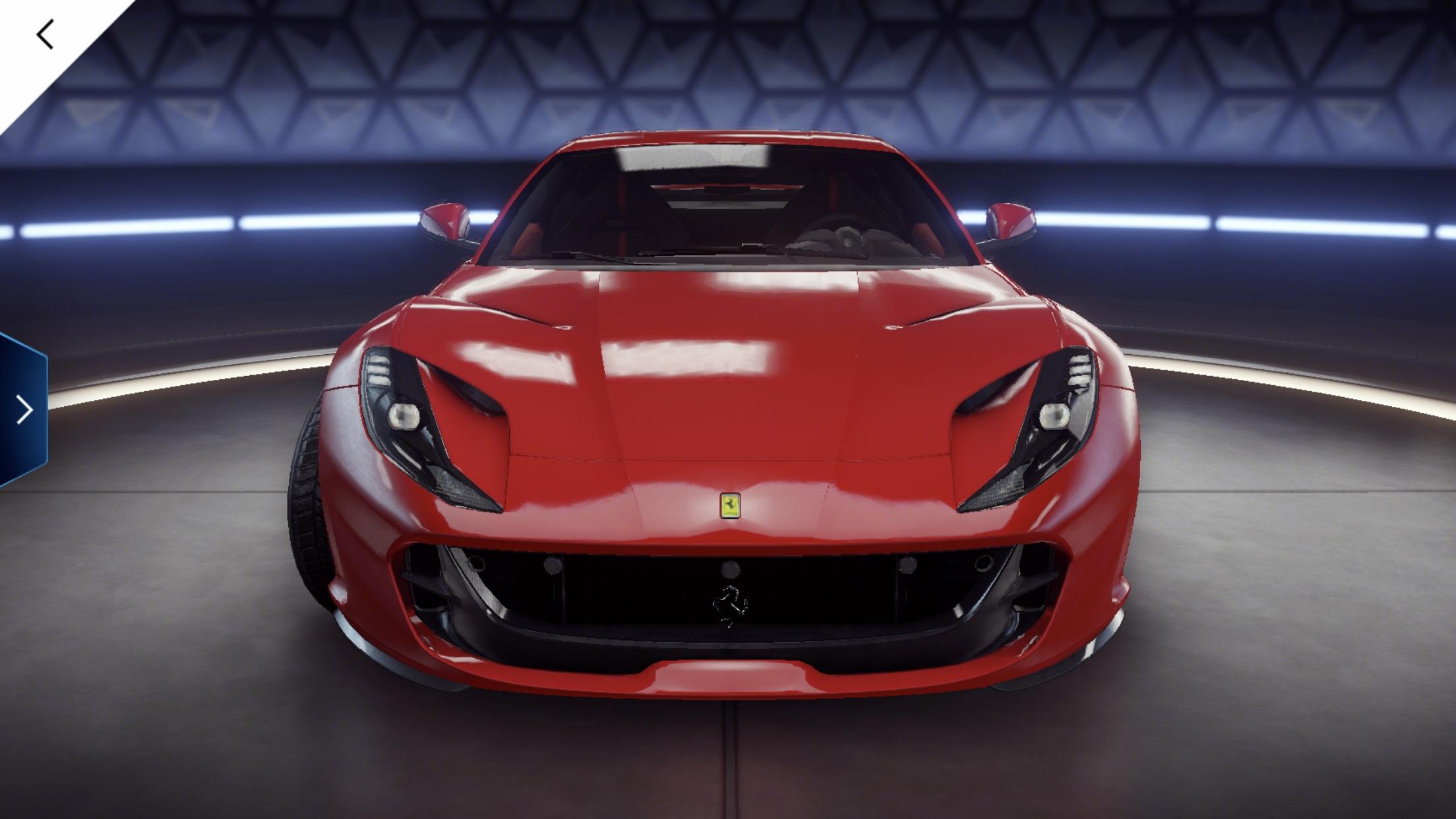 Ferrari 812 Superfast Asphalt 9 Legends Database Test